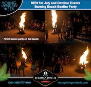 Burning Beach Bonfire Party